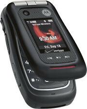 WATERPROOF Motorola Barrage V860 Verizon Wireless Cell Phone BLACK Flip cam 3G