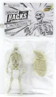 "Vitruvian H.A.C.K.S. 001107 Skeletons (White) 4"" Action Figure Skeleton Blank"