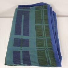 Dormisette By Ibena Solare Throw Blanket Blue Green Plaid Throw Very Comfy