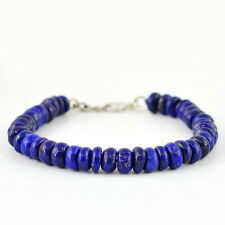 Rich Blue Lapis Lazuli Beads Bracelet Finest Quality 143.90 Cts Natural Aaa