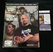 STONE COLD STEVE AUSTIN SIGNED WWE MAGAZINE JSA AUTHENTICATED
