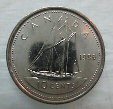 1996 CANADA 10¢ BRILLIANT UNCIRCULATED DIME