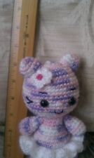 Fancy kitty wearing white tutu - Natalia-a handcrafted/crocheted/amigurumi kitty