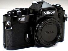 *** MINT *** Nikon FE2 35mm SLR Black Camera Body W/ Titanium Shutter