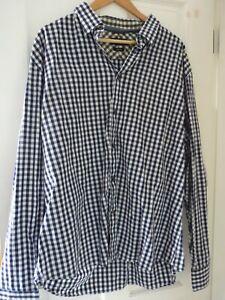 jeff banks XXL check shirt   cotton navy/white