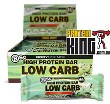 BSC HIGH PROTEIN LOW CARB BARS 8 x 60G CHOC MINT 1 BOX BODY SCIENCE OH YEAH