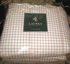 Ralph Lauren Twin Comforter Red Check New Cotton