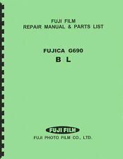 Fuji Fujica G690, G690 BL & Lenses Service & Repair Manual