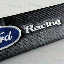 Set For Ford Racing Carbon Look Seat Belt Cover Shoulder Pads Embroidery Logo