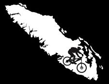 VANCOUVER ISLAND DECAL MOUNTAIN BIKER
