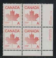 "1981 Canada SC# 907ii LR - Non-Denominated ""A"" Plate 3 Plate Block M-NH # 3039d"