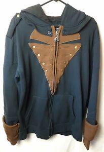 Assassin's Creed Medieval Gamer Long Sleeve Full Zip Sweatshirt Hoodie Men's XL