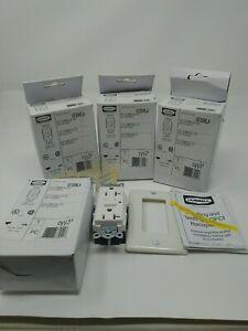 3 New Hubbell GF20WLA 20A 125V White LED GFCI  Receptacles NIB