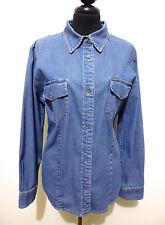 CALVIN KLEIN Camicia Donna Jeans Woman Denim Shirt Sz.M - 44