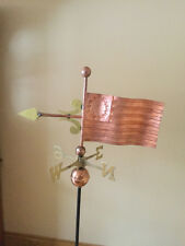 Beautiful unique American Flag Copper and Brass Weathervane - One of a Kind