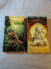 Romancing The Stone & The Jewel of the NIle VHS Lot with Douglas Turner DeVito