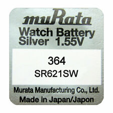 Murata SR621SW 364 AG1 Silver Oxide Watch Batteries SELECT 1 2 3 4 5 & 10 x QTY