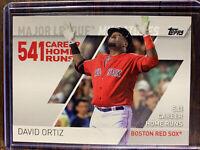 2017 Topps Baseball Card MLM-20 David Ortiz Boston Red Sox MLB HOF 541 HR MINT