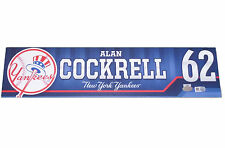 ALAN COCKRELL YANKEES HITTING COACH GAME USED LOCKER TAG 10,000th FRANCHISE WIN