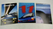 3 Prospekte Renault 11 elf TSE GTL TC Turbo Broadway aus den 80er Jahren