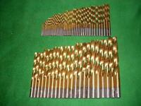 70 tlg. HSS-G  TiN-Spiralbohrer Satz  DIN 338/RN    1,0 mm - 10,0 mm x 0,5 mm