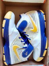 Nike Zoom Kobe 2 II Sz 11 White/Varsity Maize-Vrsty purple yellow
