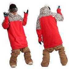 December long tall hoodie ski snowboard sports-bohemian red XL
