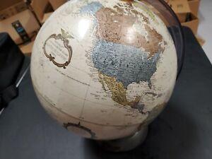"Replogle 12"" Diameter World Globe Platinum Classic Series Vintage w/plastic base"