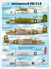B-25 B/C/D Mitchell in USAAF, RCAF (1/72 decals, Iliad 72019)