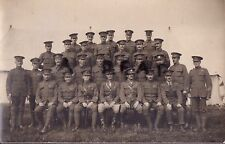 Officer Warrant Officer Sergeant 6th London or 9th London Regiment at Camp