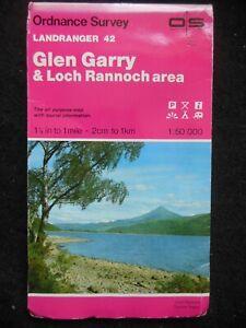 Ordnance Survey Landranger Map - Glen Garry & Loch Rannoch, Scotland - Sheet 42