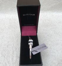 Jon Richard Cubic Zirconia Encrusted Silver Plated Open End Bangle Bracelet (BN)