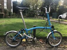 Brompton M3L folding bike blue excellent condition