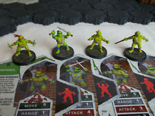 Heroscape CUSTOM TMNT Set 1: Raph, Leo Mikey, & Don ~ Teenage Ninja Turtles