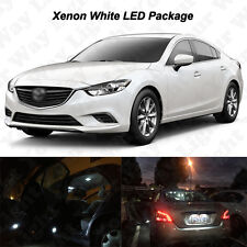 14 x White LED Interior Bulbs + Reverse + Tag Lights For 2014-2016 2017 Mazda 6