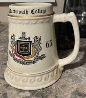 Vintage Dartmouth University Dartmouth College 1965 Ceramic Beer Stein Mug Bob