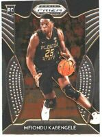 2019 Prizm Draft Picks Basketball #91 Mfiondu Kabengele Rookie Card FSU Seminole