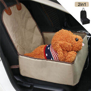 2 in 1 Dog Car Seat Cover Box Non-Slip Puppy Pet Single Folding Front Seat Mat