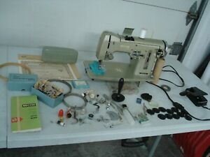Necchi Nora NA Sewing Machine Heavy Duty  Serviced Works Perfectly 1960 italy