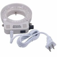 56 LED Adjustable Ring Light Illuminator Lamp & Adapter for Stereo Microscope