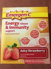 Emergen-C Juicy fragola Vitamina C BIBITA MIX-BUSTINE 8x9.9g