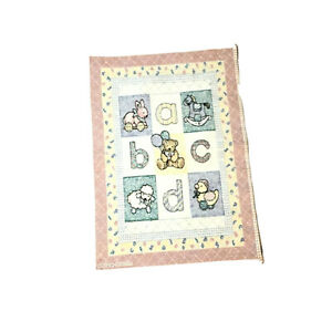 The Rug Barn Wall Tapestry Pastel Nursery ABCD Fraser Collection