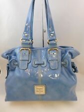 Dooney and Bourke Light Blue Chiara Patent Leather Shoulder Handbag