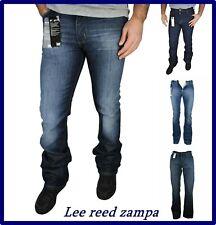 jeans lee da uomo donna reed elasticizzato a zampa bootcut svasati W 30 31 32 33