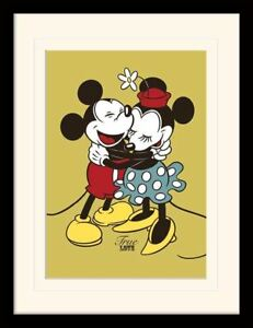 Mickey & Minnie Mouse True Love Framed & Mounted Print