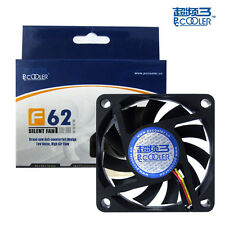 PcCooler F62 3 + 4 PIN 6cm 60 x 60mm x 10mm 12V 0.26A 22dBa PC Case Fan & Screw
