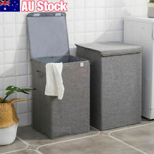 Large Laundry Basket Washing Clothes Storage Folding Basket Bin Hamper Lid Box