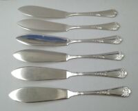 VINTAGE ~ CUTLERY ~ SET OF SIX FISH EATERS ~ E.P.N.S ~ A1 ~ SHEFFIELD ~ SIZE 8""