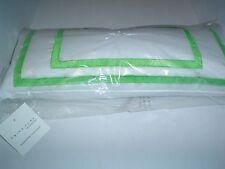 """Trina Turk Huntington Stripe Oblong Pillow Feather/Down White/Green 22"""" x 10"""""""
