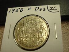 1950 - Full Design - Silver - Canadian half dollar - Canada 50 cents